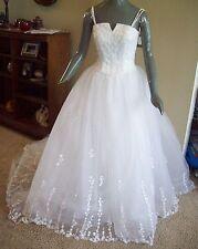 Michaelangelo Michelangelo Davids Tulle White Bridal Gown Wedding Dress size 4 6