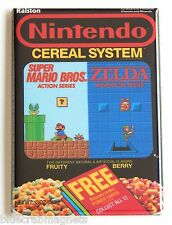 Nintendo Cereal FRIDGE MAGNET (2 x 3 inches) box video game zelda super mario