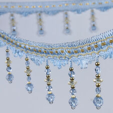 10 Color 1m Curtain Sewing Tassel Fringe Trim Tassel Crystal Bead Lace Accessory