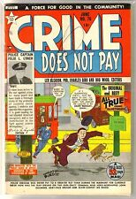 Crime Does Not Pay #76 Clarence Reese Manhunt! Vintage Golden Age Comic Book~ Vg