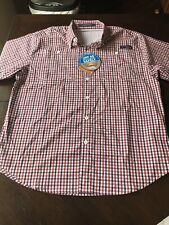NWT Columbia PFG Vented Mens Medium Super Tamiami Flannel Fishing Shirt B3