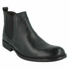 Scarpe da uomo stivali alla caviglia, chelsea neri con da infilare