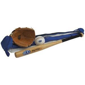 Wilks Senior Softball Bat Glove Ball Set Garden Game