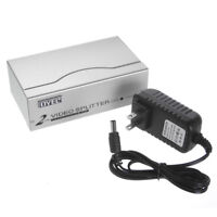 1 PC to 2 Port VGA Switch Box SVGA Switcher Video Selector Splitter Adapter 1-2