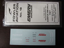 1/144  DECALS FOWLER AVIATION EMERY WORLDWIDE BOEING 727  DECALCOMANIE