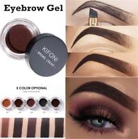 5 Colors Eyebrow Cream Tint Waterproof Pomade Gel Enhancer Eye Brow w/ Brush~
