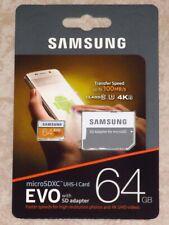 Genuine Samsung EVO 64GB U3 MicroSDXC UHS-I Memory Card With Adapter - Brand NEW
