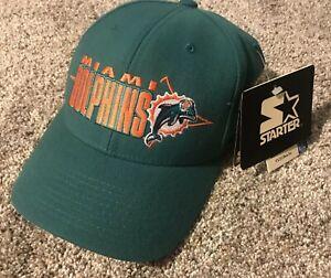 Vintage 90's Deadstock NWT Starter NFL Pro Line Miami Dolphins Snapback Hat