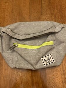 Herschel Fanny Pack Sport Gym Active Travel Bag Grey And Yellow | Used Twice