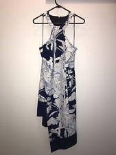 Navy/ White Dress (Floral Pattern)