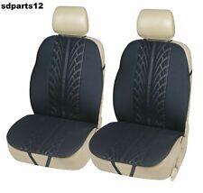BMW Dacia Toyota Paire Housses de Sièges Auto 1+1 En Tissu Noir Résistant