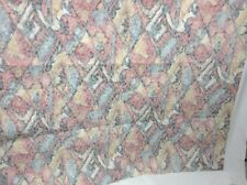 """1.5 yds 54"""" wide woven upholstery fabric floral damask pastels cotton backing"""