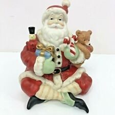 Santa Claus Christmas Candy Dish Midwest of Cannon Falls Ceramic Trinket Box