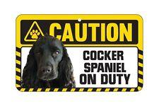 Dog Sign Caution Beware - Cocker Spaniel