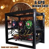 Miner Rahmen 6 GPU Mining Open Air Frame Gehäuse Alu Halterung Bergbau BTC ETH