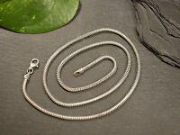Tolle 925 Silber Kette Schlangenkette Schnur Matt Modern Elegant Unisex Schlicht