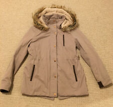 Zara Girls Parka Style Coat Brown Age 13-14 Years (fit 10-11 /12 year old)