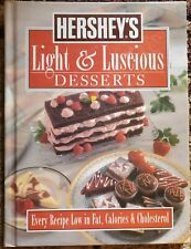 Hershey's: Light And Luscious Desserts 1994 vintage cookbook NICE!
