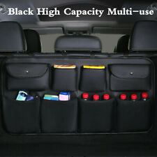 Leather Car Trunk Seat Back Storage Bag Multi-Use Organizer Interior Accessories