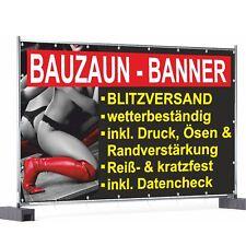 Bauzaunbanner Bauzaunplane Banner Bauzaun Werbebanner Werbeplane Mesh Druck