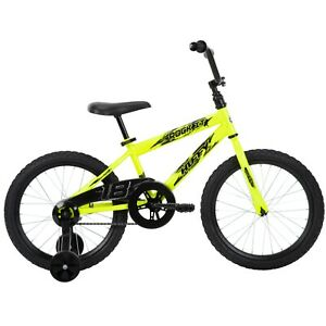 "Boys' 18"" Rock It Bike w/Cool Graphics & Training Wheels, Ages 4-8, Height 3'6""+"