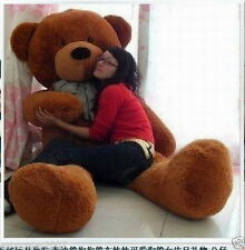 "72"" Huge Giant Dark Brown Teddy Bear Soft Doll 100% Big Plush Toy Birthday Gift#"