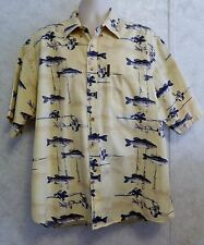 Clearwater Outfitters Men's Shirt Fisherman Fish Rods & Reels Size XL Yellow