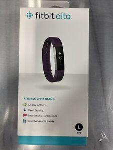 Brand NEW Sealed Fitbit Alta Wireless Activity Tracker (Large,Plum) FB406PML
