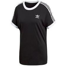 Adidas Originals 3 rayas camiseta mujer negro 42