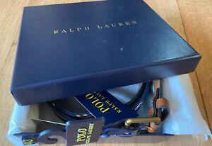 Polo Ralph Lauren Repp Tie Belt Gift Set Size 40' RRP £75