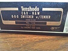 HO Brass Tenshodo C & O. N & W   0- 8 -0 Switcher w/ Tender No. 147 custom paint