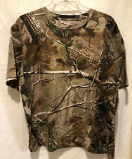 Mens CAMO SHIRT Size S GAME WINNER T-Shirt Short Sleeve Cotton REAL TREE Hunter