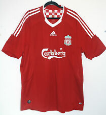 "EXCELLENT! Liverpool FC 2008/2009/2010 XL (46"" - 48"") Home Shirt ADIDAS CAMISETA"
