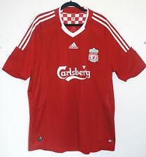 "EXCELLENT! Liverpool FC 2008/2009/2010 XL (46"" - 48"") Home Shirt ADIDAS CAMISETA"
