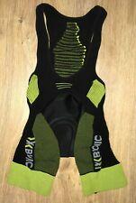 X Bionic Effektor Bike mens Paded black green cycling bib shorts size L