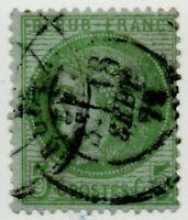 1871/73 FRANCIA CERERE 5 CENT. VERDE CAT.UNIFICATO N.53 USATO