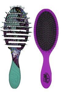 2 PACK Wet Brush Pro 2.0 Flex Dry Paradise & Purple Detangler Brush