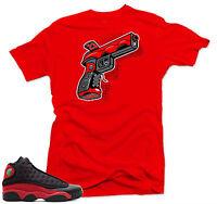 Shirt to match Air Jordan Bred 13s. 9 MM Gun Red  Tee