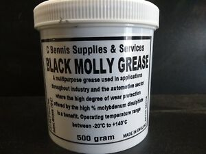 Black Molly Premium Molybdenum Disulphide Grease Lubricant  500g cv joints HD