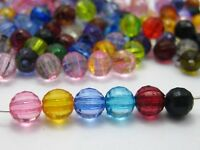 "500 Colour Transparent Acrylic Faceted Round Beads 6mm(0.24"") Disco Ball Spacer"