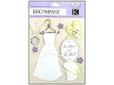 "K&Company "" Dimensional Classic Wedding Items"" 9 Gorgeous Pieces 30-577411"