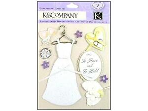 """K&Company """" Dimensional Classic Wedding Items"""" 9 Gorgeous Pieces 30-577411"""