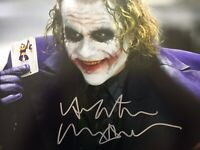 A Genuine Signed Batman / The Joker Photo By Heath Ledger 1