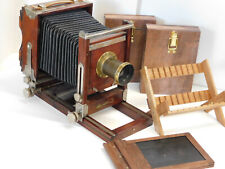 Wet Plate Collodion Gundlach 4x5 Large Format Camera Outfit w/ Brass Lens