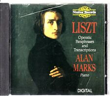 Liszt: Operatic Paraphrases & Transcriptions CD -Alan Marks, Piano (Nimbus)