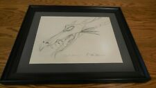 """Disney Sleeping Beauty """"Maleficent as Dragon"""" Original Production Drawing Signed"""