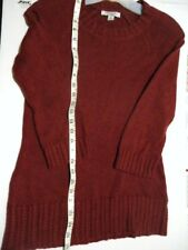 Womens Sz S BANANA REPUBLIC wool/cashmere blend long cranberry sweater