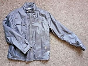 """Tottenham Hotspur Waxed Cotton Padded Coat Grey Size L Pit to Pit 22"""""""