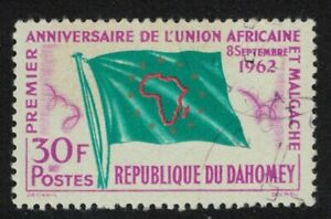 Dahomey Flag First Anniversary of Union of African and Malagasy States 1962