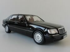 Mercedes s600 clase s w140 1997 negro maqueta de coche 1:18 norev